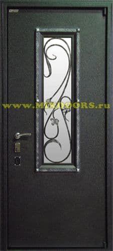 металлические двери с кованой решеткой класса люкс